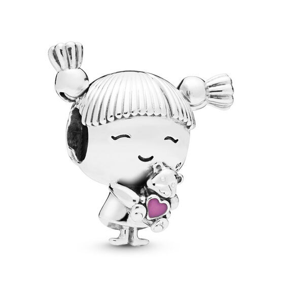 Pandora Girl with Pigtails Enamel Charm