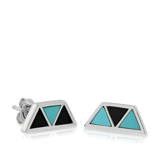 Lisa Bridge Turquoise &  Black Onyx Earrings