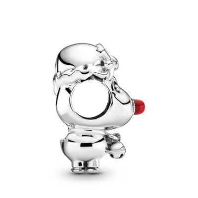 Pandora Red Nose Reindeer Enamel Charm