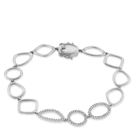 Diamond Link Bracelet 14K