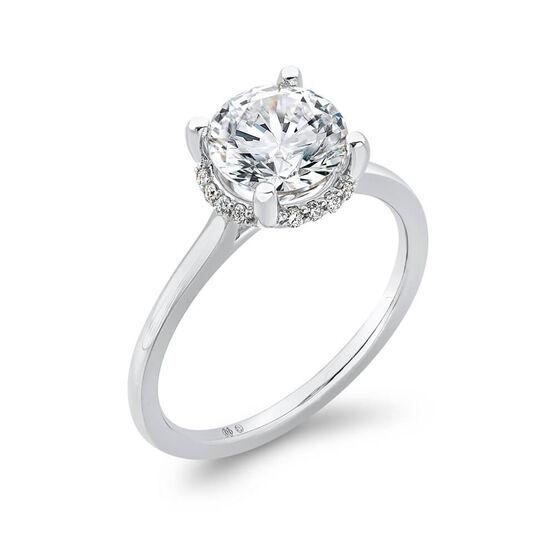 """Bella Ponte """"The Whisper"""" Diamond Engagement Ring Setting 14K"""