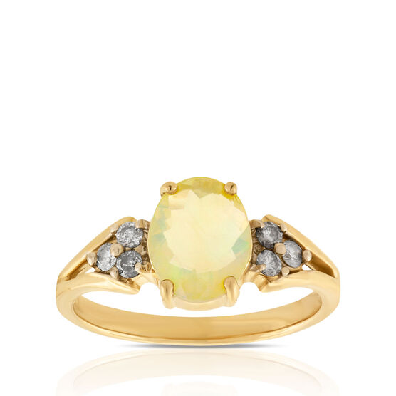 Opal & Diamond Ring 14K
