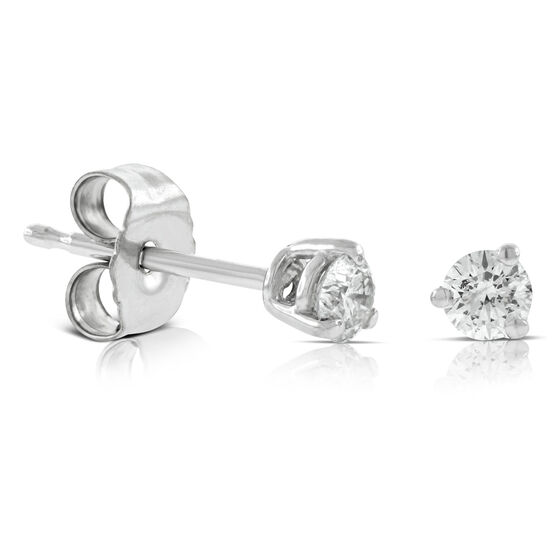 Diamond Solitaire Earrings 14K, 1/5 ctw.