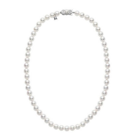 "Mikimoto Akoya Cultured Pearl Strand, 7mm, A1, 18"", 18K"