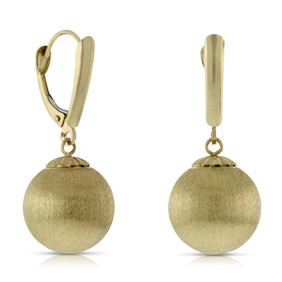 Satin  Bead Earrings 14K
