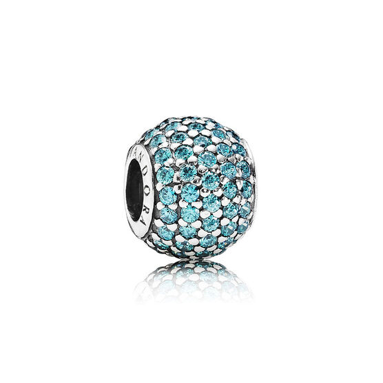 PANDORA Teal Pavé Lights CZ Charm
