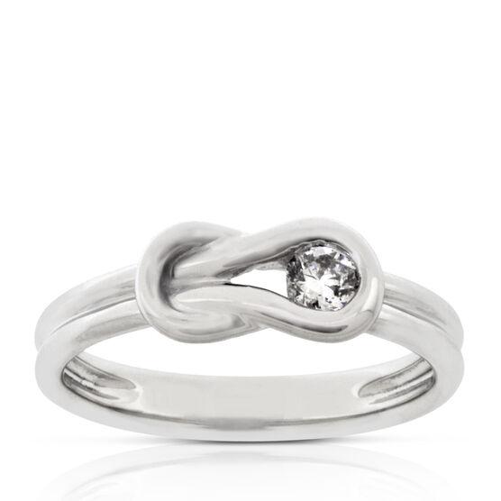 Everlon™ Diamond Knot Collection Ring 14K