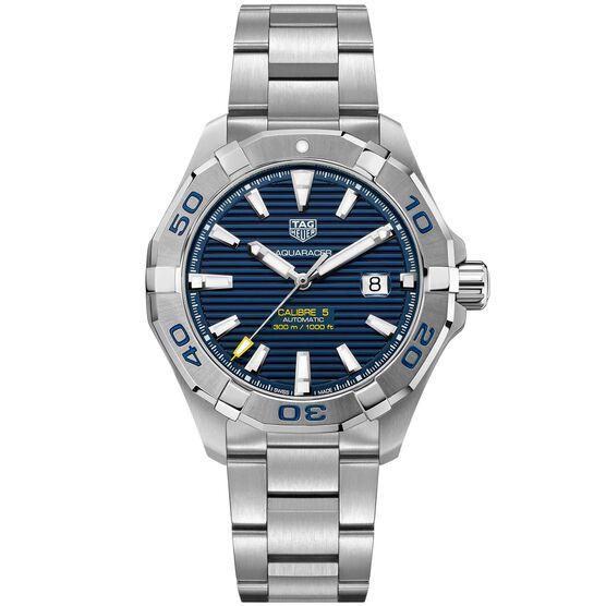 TAG Heuer Aquaracer Calibre 5 Automatic Mens Blue Steel Watch