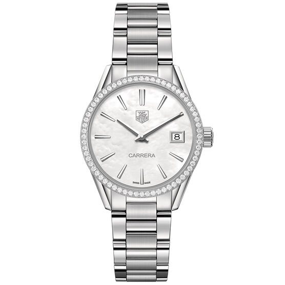 TAG Heuer Carrera Quartz Ladies Mother of Pearl Steel Watch