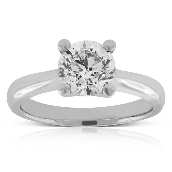 Diamond Solitaire Ring 14K, 1 & 1/2 ct.
