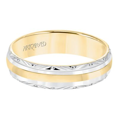 ArtCarved Yellow & White Gold Band 14K