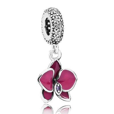 Pandora Orchid Charm