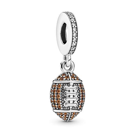 Pandora American Football Crystal & CZ Dangle Charm