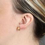 Small Half Wrap Hoop Earrings 14K