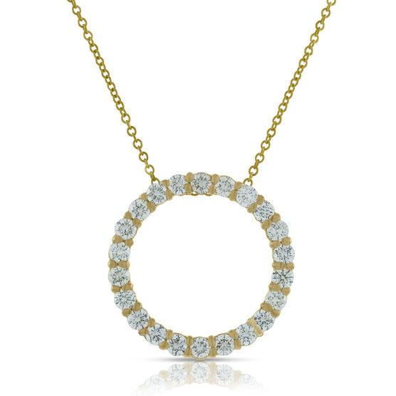 Diamond Circle Pendant 14K