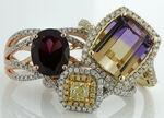 Yellow Diamond Engagement Ring 14K