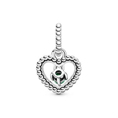 Pandora Purely Pandora Spring Green Crystal Beaded Heart Dangle Charm