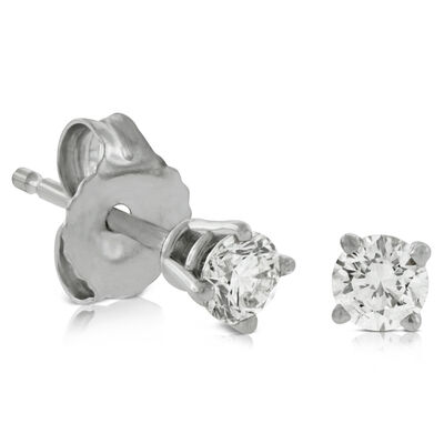 Classic Diamond Earrings, 14K 1/4 ctw.