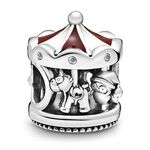 Pandora Friends Christmas Carousel Enamel & CZ Charm