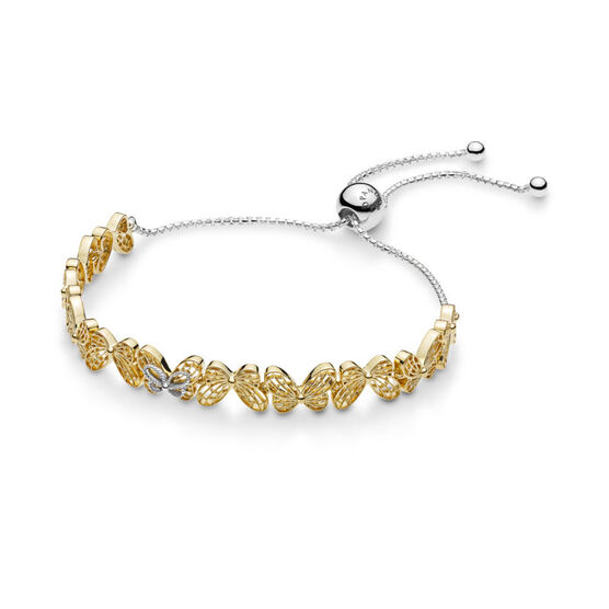 PANDORA Shine™ Openwork Butterflies Sliding Bracelet