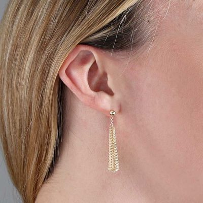 Toscano Coiled Drop Earrings 14K
