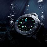 Panerai Submersible 1950 Titanio Black Dial Titanium Watch, 47mm