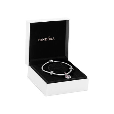 Pandora Sparkling Pink Heart Family Tree Crystal & CZ Gift Set