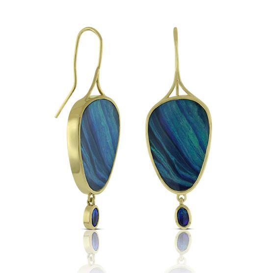 Lisa Bridge COUTURE Opal Doublet Wire Earrings 18K