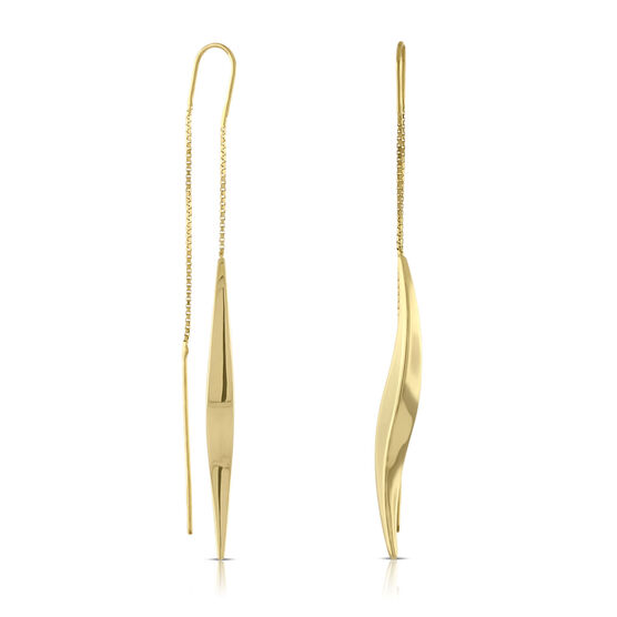 Twist Threader Earrings 14K