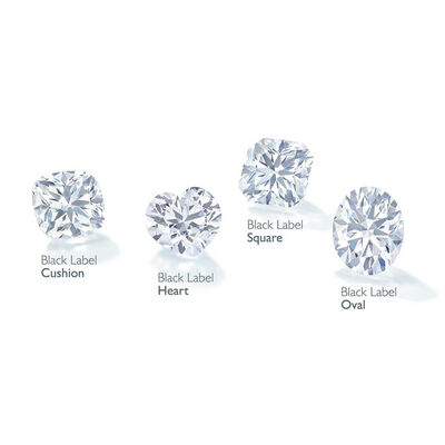 Forevermark Black Label 1 ct. Cushion Cut Diamond Split Shank Engagement Ring 18K