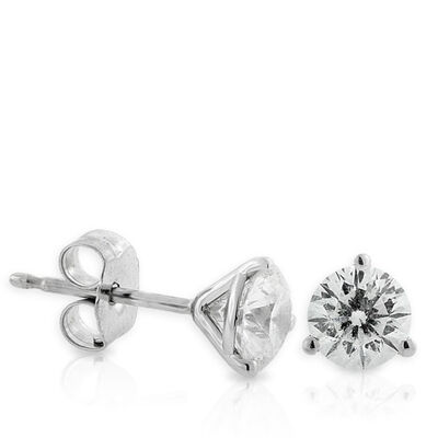 Signature Forevermark Diamond Earrings 18K, 1 ctw.