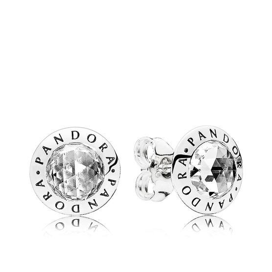 PANDORA Radiant PANDORA Logo CZ Stud Earrings
