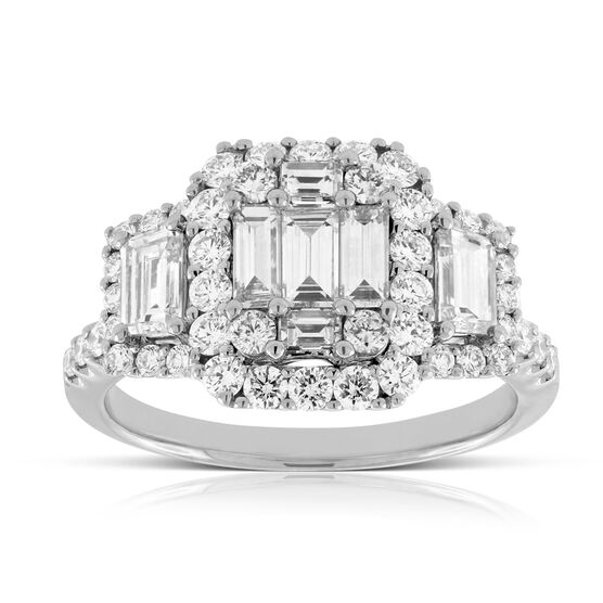 Diamond Cluster Halo Ring 14K