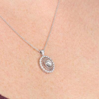 Signature Forevermark Medallion Diamond Pendant 18K