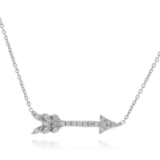 Roberto Coin Diamond Arrow Necklace 18K