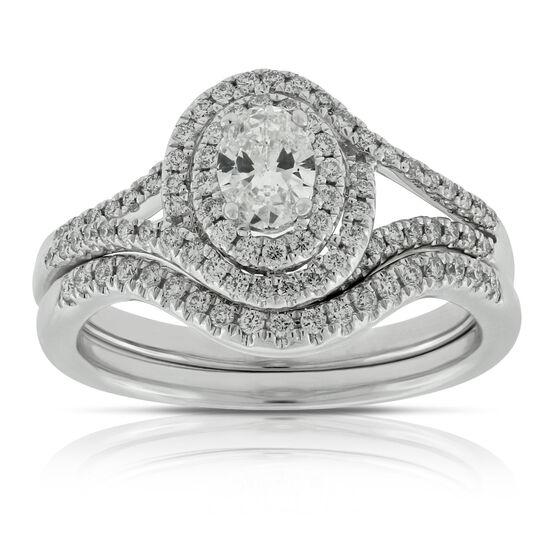 Oval Diamond Bridal Set 14K