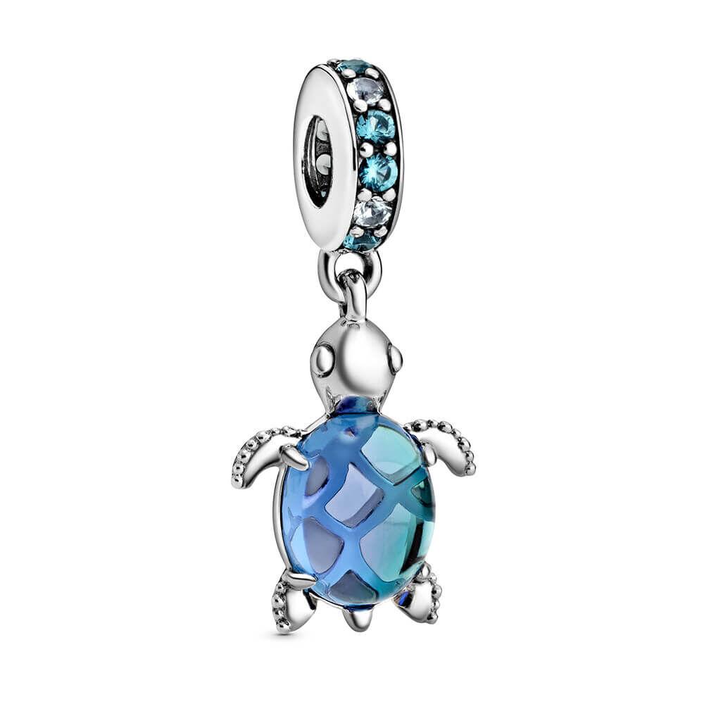Turtle King Ray Design Glass Jewelry Box Medium
