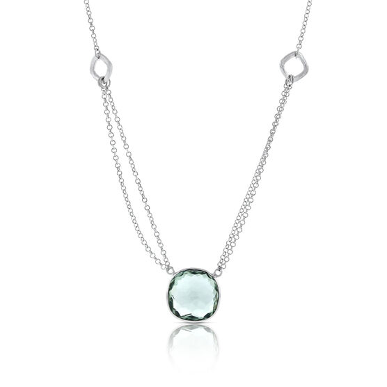 Lisa Bridge Green Quartz Double Chain Necklace