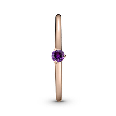 Pandora Rose™ Purple Solitaire CZ Ring