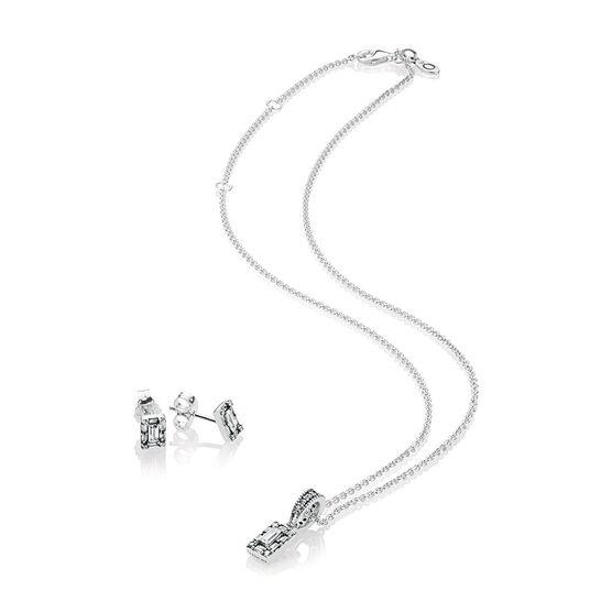 PANDORA Luminous Ice Necklace & Earrings Gift Set