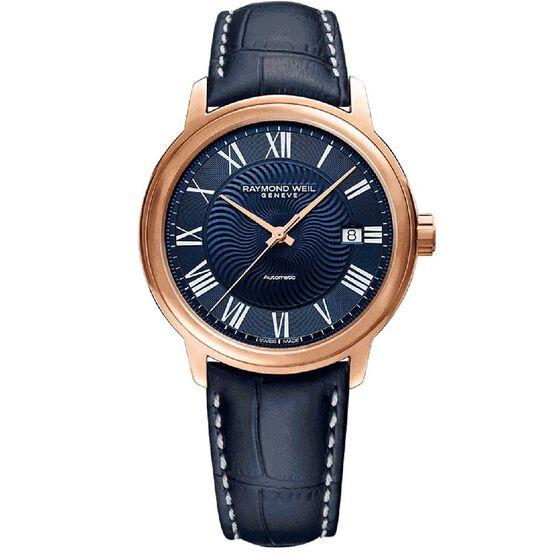 Raymond Weil Maestro Rose PVD Automatic Watch, 40mm