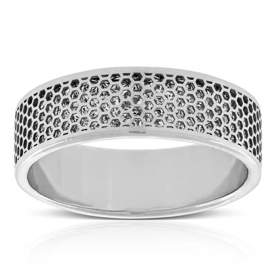 Honeycomb Diamond Cut Band 14K