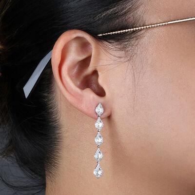 Drop Diamond Earrings 14K, 1.80 ctw.