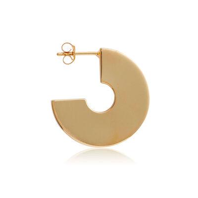 Toscano Polished Disc 3/4 Hoop Earrings 14K