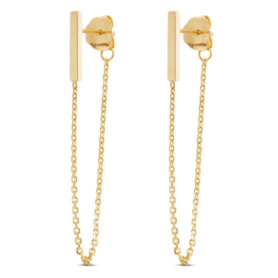 Bar & Chain Earrings 14K