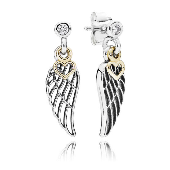 Pandora Love & Guidance Earrings, Silver & 14K