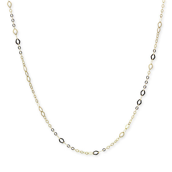 Marquise Station Link Chain 14K, 18""