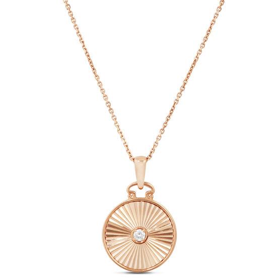 Rose Gold Ikuma Canadian Diamond Radiant Medallion Necklace 14K