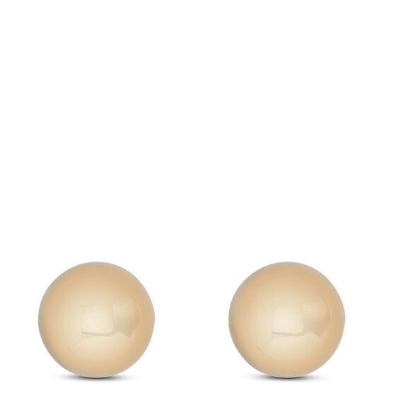 Yellow Gold Ball Earrings 14K, 4mm