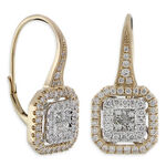 Pavé Diamond Earrings 14K